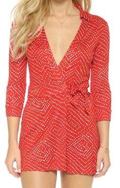 620e87f3293 DVF red printed romper Silk Romper