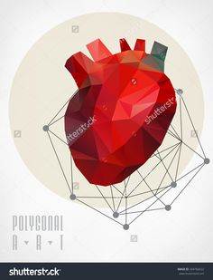 stock-vector-abstract-polygonal-heart-geometric-hipster-illustration-low-poly-illustration-264766622.jpg (1220×1600)
