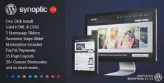Download and review of Synoptic Premium WordPress Template, one of the best Themeforest Creatives themes