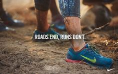 Roads end, runs don't. Trail running!!