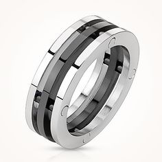 Black Trinity By Blue Steel Get Here #BuyBlueSteel #Ring #Black #TrinityRing #Men #Jewelry