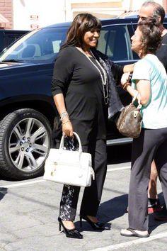 Patti arrive at rehearsal studios 9/4/15 - credit: AKM-GSI