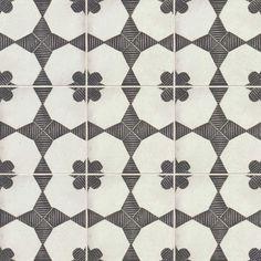 Bedrosians Enchante Moderno x Porcelain Encaustic Floor and Wall Tile (Common: x Actual: x at Lowe's. Designed to replicate hand-painted cement tiles, the Enchante Collection delivers the aesthetic of encaustic cement tile in a low maintenance, durable Concrete Tiles, Stone Tiles, Pebble Stone, Encaustic Tile, Bathroom Flooring, Kitchen Floors, Kitchen Backsplash, Dad's Kitchen, Tile Flooring