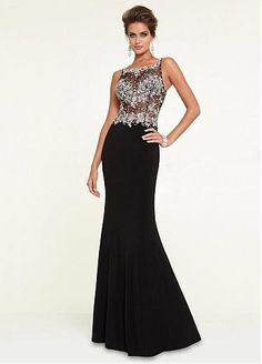 Wedding Dresses, Bridesmaid Dresses, Prom Dresses and Bridal Dresses Mori Lee Paparazzi - Style 97146 - Mori Lee Paparazzi, Spring Crystal Beaded Net on Jersey evening gown with Chiffon Fly Away train. Zipper back. Mori Lee Prom Dresses, Prom Dresses 2015, Black Prom Dresses, Sexy Wedding Dresses, Ball Dresses, Bridesmaid Dresses, Prom 2015, Dress Prom, Discount Prom Dresses