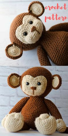 Meet Michael the Monkey! Oh so cute crochet monkey pattern that you will love to crochet! Perfect to make for a gift..or you may find he is way too cute to give away and you need to keep him for yourself! Crochet Monkey Pattern Amigurumi PDF-Monkey Crochet Pattern-crochet-Michael the Monkey- PDF Tutorial-instant download #ad #affiliate #crochet #crochetpattern #crafts #handmade #etsy #shopsmall #smallbusiness