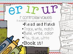 ER IR UR - 5 Interactive activities to teach r controlled vowels R Controlled Vowels Activities, Vowel Activities, Interactive Activities, Reading Activities, Reading Tutoring, Reading Intervention, Teaching Reading, Guided Reading, Word Work Stations