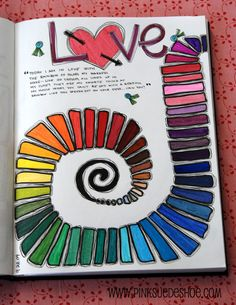 what a fun blog - look inside her journal -http://pinksuedeshoe.com/2009/12/21/a-peek-inside-my-journal/