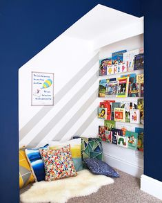Not sure what to do with a spare room in your home? Transform the space into the ultimate kids playroom! From indoor swings and cool forts to ball pits and reading nooks, check out these 21 kids playroom ideas! Attic Playroom, Playroom Design, Attic Rooms, Toy Rooms, Attic Spaces, Playroom Ideas, Attic Library, Attic Apartment, Attic Bathroom