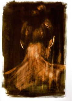 Black Ink and Bleach painting by Imogen Twist