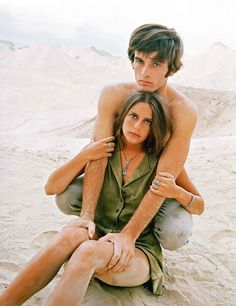 Mark Frechette and Daria Halprin in Zabriskie Point directed by Michelangelo Antonioni, 1970. Photo by Bruce Davidson