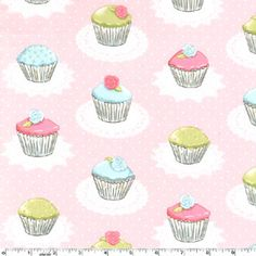 Cupcake+Fabric+Quaint+Cupcakes++CM4604+by+Michael+Miller+by+XOgigi,+$9.25