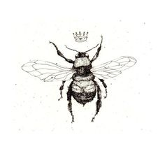 Cute bee tattoo