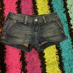 super cute jean shorts perfect for summer time love this shorts because the bottom of them don't fold up and uneven like some other shorts. any wrinkles are from storage and can easily be removed with an iron American Eagle Outfitters Shorts Jean Shorts