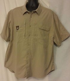 Propper Beige Nylon Blend Tactical Shirt with US ARMY Logo size XL #PROPPER #Tactical