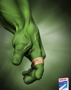 Creative Band-aid marketing , it withstands the Hulk! Creative Advertising, Print Advertising, Marketing And Advertising, Digital Marketing, Advertising Ideas, Email Marketing, Funny Advertising, Advertising Awards, Guerilla Marketing