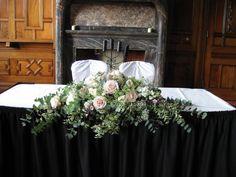 Laura Coleman Flowers: September 2010... long and low david austen rose arrangement