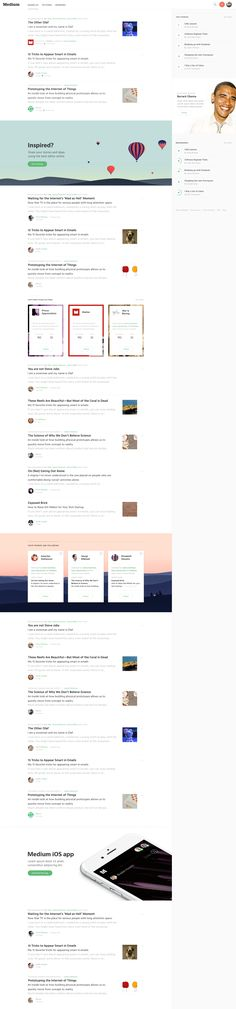 New Medium Homepage UI concept design by Medium design team and Haraldur Thorleifsson on dribbble.
