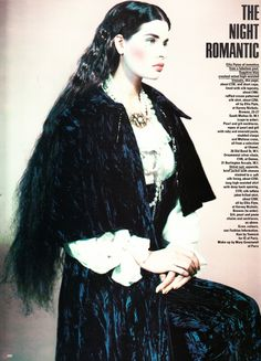 saloandseverine:  UK Vogue October 1985, The Night RomanticLucy Cunningham by Paolo Roversi