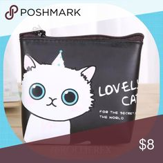 """Blue-eyed Kitty Bag Feature:  😺 Brand new without tags.  😺 Quantity: 1 bag  😺 I do not trade  😺 Zip up coin bag  😺 Material: Silicon   😺 Size: about 13.5*10cm/5.3*3.9""""  😺 Lightweight. Great to carry coins, keys, candy...etc Bags Satchels"""