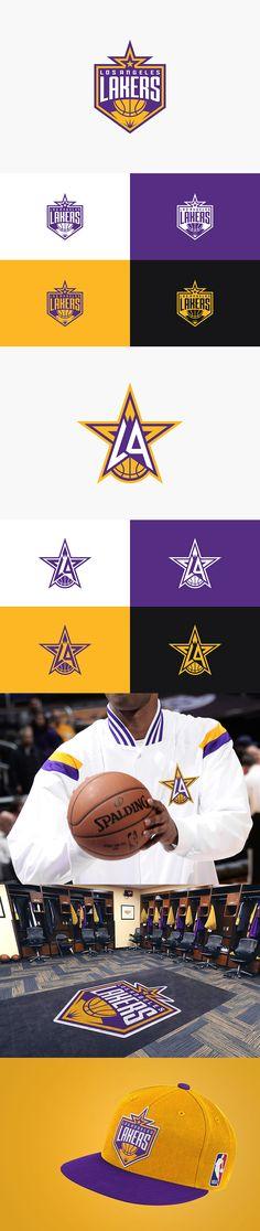 Los Angeles Lakers rebranding concept by Pan Hu