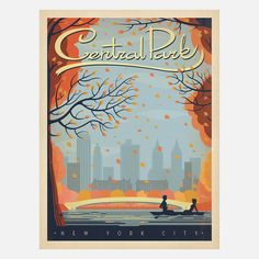 New York: Central Park 18x24 by Anderson Design Group   Fab.com