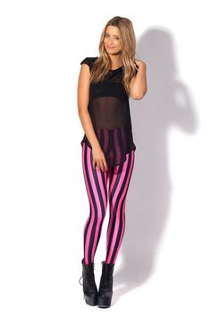 Beetlejuice Neon Pink Leggings