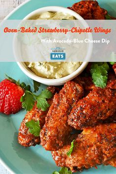 Can baked wings in a strawberry-based sauce be as delicious as fried buffalo wings? Yes. Yes they can.