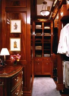 Gentlemens dressing room at 960 Park Ave- Want one for Andy for The House one day. Master Closet, Closet Bedroom, Closet Space, Armoire Dressing, Dressing Room Closet, Closet Vanity, Beautiful Closets, Men Closet, Cleaning Closet