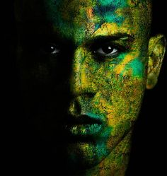 Painted face...