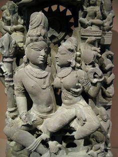 God Shiva Goddess Parvati, India, Madhya Pradesh, 1000s, Sandstone. Denver Art Museum, Colorado, USA