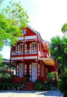 Red house in Haiti