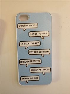 Magcon boys names case Handmade High quality Design by Jillian's Cases