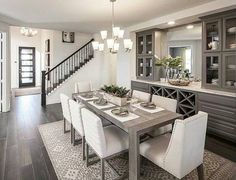 45 elegant and minimalist dining table decor ideas and steps to create a minimalist dining room 1 Dining Room Table Decor, Dining Room Colors, Elegant Dining Room, Dining Room Walls, Dining Room Design, Dining Area, Dinning Room Ideas, Dining Room Furniture, Cabinets In Dining Room
