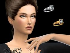 The Sims Resource: Princess cut ring by NataliS • Sims 4 Downloads