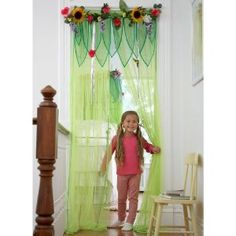 Fairy Room Window Treatments - Curtain Panels (for playroom? Fairy Bedroom, Garden Bedroom, Girls Bedroom, Bedroom Ideas, Forest Bedroom, Teen Bedrooms, Garden Canopy, Fairy Garden Doors, Garden Entrance
