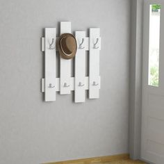 This simple and popular modern coat hanger has an innovative space-saving design while being both decorative and functional. The simple contemporary design wi Modern Hallway, Modern Wall, Hallway Furniture, Diy Furniture, Jacket Hanger, Coat Stands, Idee Diy, Pallet Crafts, Home Upgrades