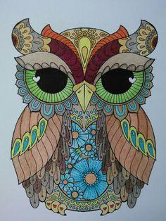 This owl has heart. Owl Mosaic, Mosaic Art, Owl Artwork, Bird Coloring Pages, Evil Art, Bird Quilt, Owl Cartoon, Owl Pictures, Beautiful Owl