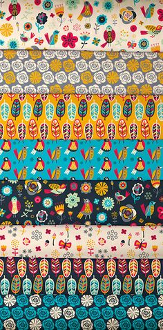 Birds of a Feather fabric collection by Allison Cole