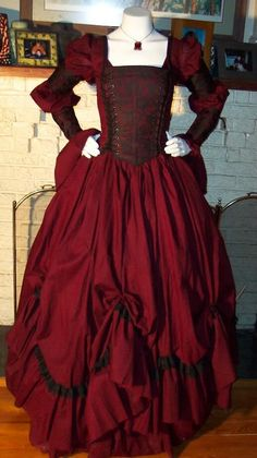 Dracula Gothic Renaissance Pirate Gown More Gothic Renaissance, Gowns Dresses, Pirates Gowns, Renaissance Gowns, Renaissance Pirates, Vampires Women, Renaissance Dresses, Dracula Gothic, Dresses Costumes Renaissance gypsy Clothing for Women | Gothic Renaissance Dresses Gothic Renaissance Gown Dress