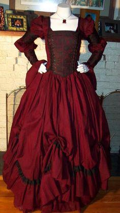 Dracula Gothic Renaissance Pirate Gown Dress costume Vampire Womens $225