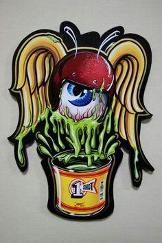 Flying Eye -Boo pinstriping