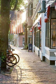 Nantucket cobblestone street
