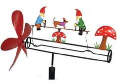 Garden Gnomes Party Whirligig