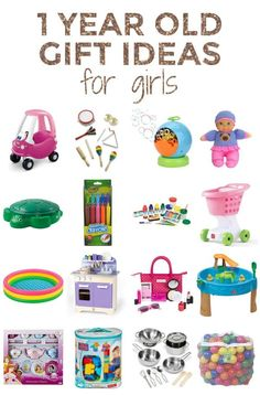 Gift ideas for one year old girls- Presents that 1 year olds will love all year long! (From a mom who has had two of them.) :) For 1 Year Old Boy First Birthday, Birthday Gifts For Girls, Birthday Photos, Birthday Ideas, Baby Shower Activities, Toddler Activities, Family Activities, Girl Gifts, Baby Gifts