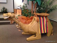 Tutorial for making a DIY paper-mache camel for story of Israelite s wandering in the wilderness. Kidfrugal: Riding the Camel