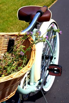 bike rides and flower picking.. I want this bike!