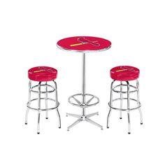 St. Louis Cardinals MLB Pub Table and Barstool Set (3 Piece Set)