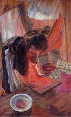 Sakamoto Hanjirō, Drying Clothes, 1910