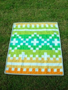 FREE PATTERN: Fair Isle Baby Quilt and Crib Bedding (from Moda Bake Shop)