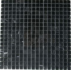 Nero Marquina (Black Marble) x Square Polished Mosaic